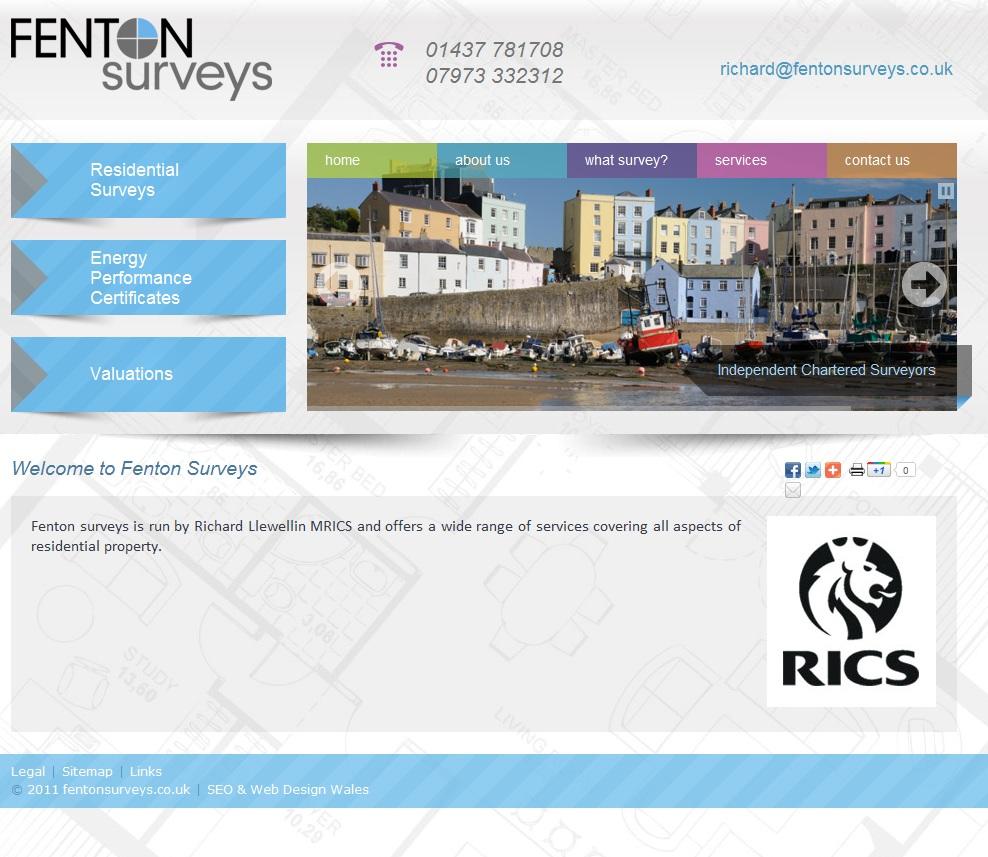 http://fentonsurveys.co.uk/ - Web Site for Surveys in Pembrokeshire