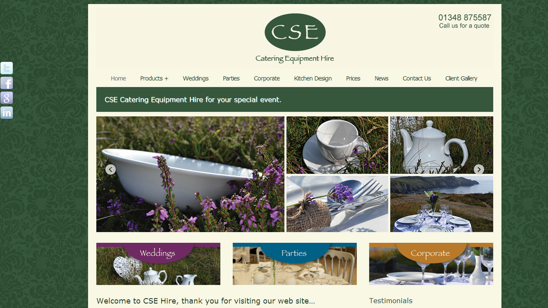 CSE Hire Web Design by Web Adept