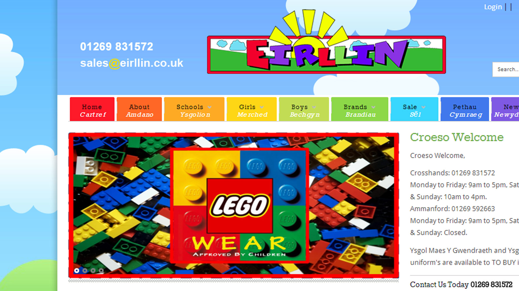 Eirlling E-commerce Web design by Web Adept