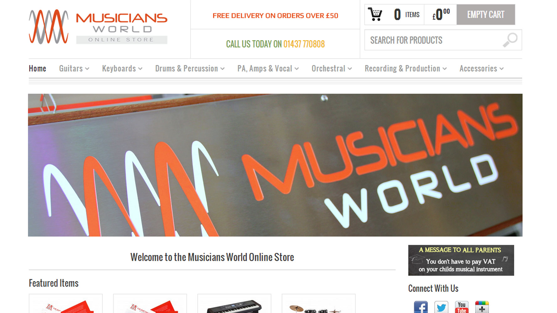 Musicians world web design by web adept