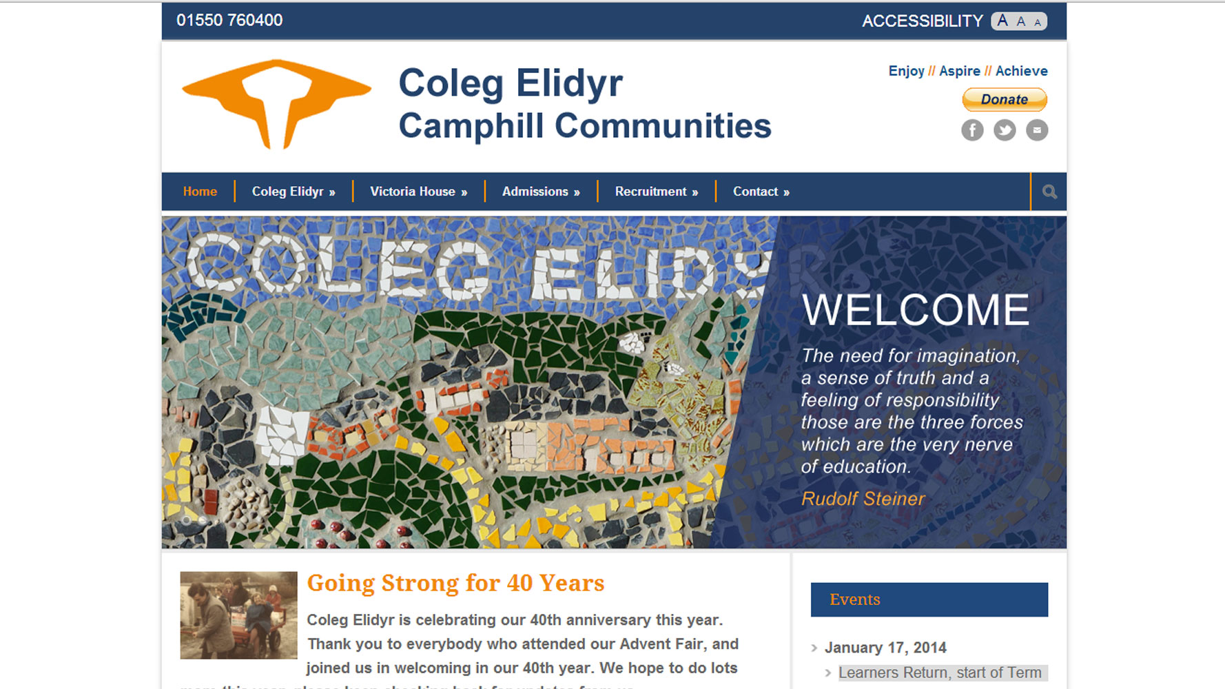 Coleg Elidyr Web Design by Web Adept