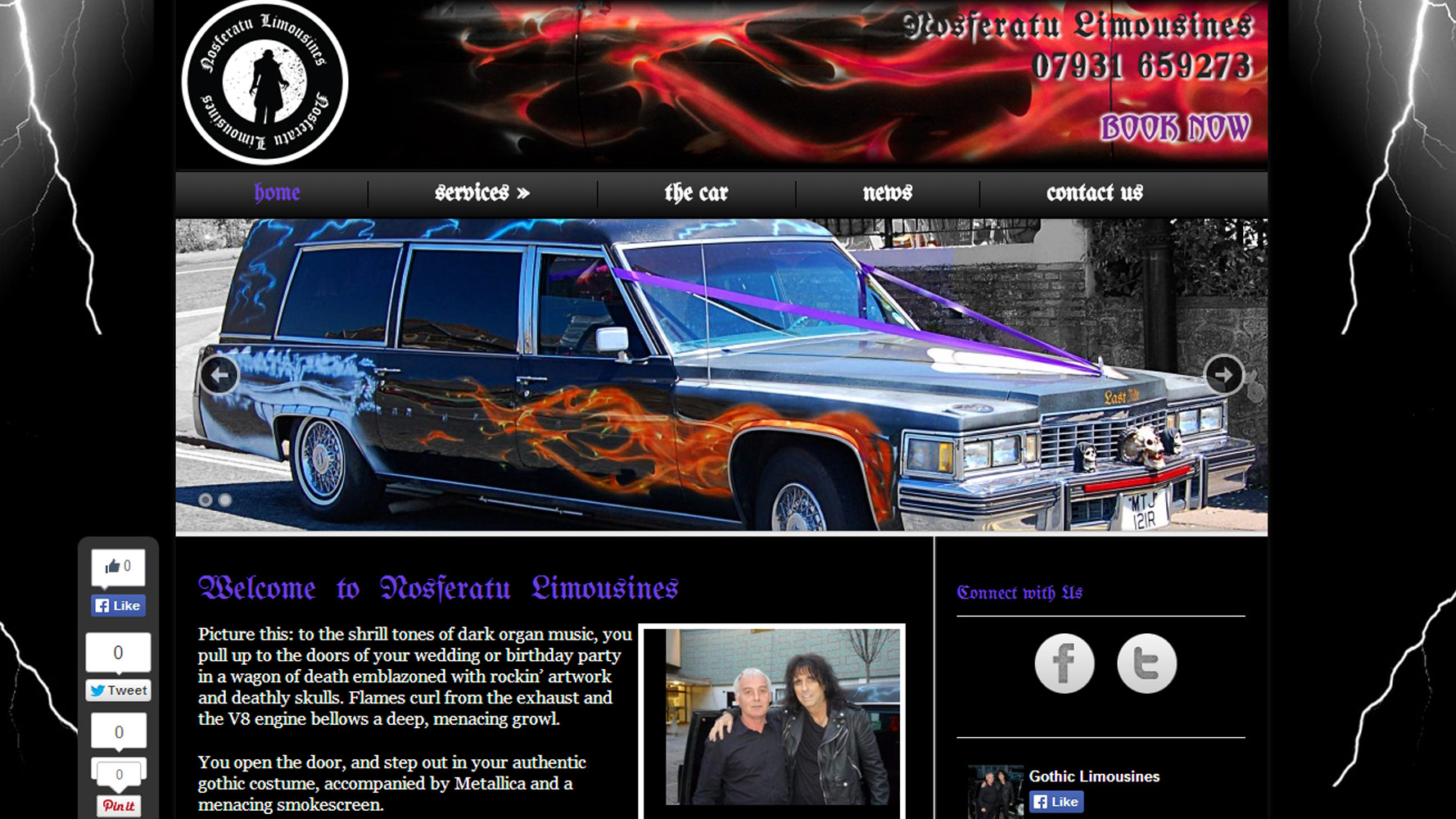 nos limo homepage web design by web adept