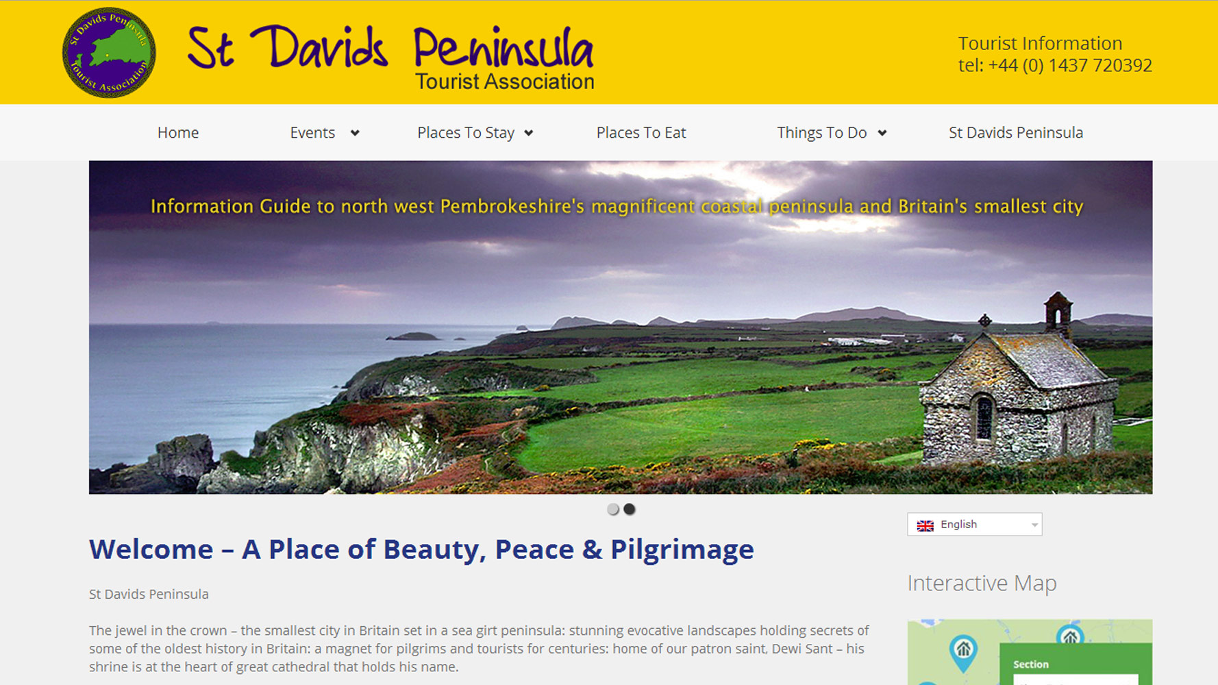 St Davids Peninsula Tourist Association Website Homepage by Web Adept