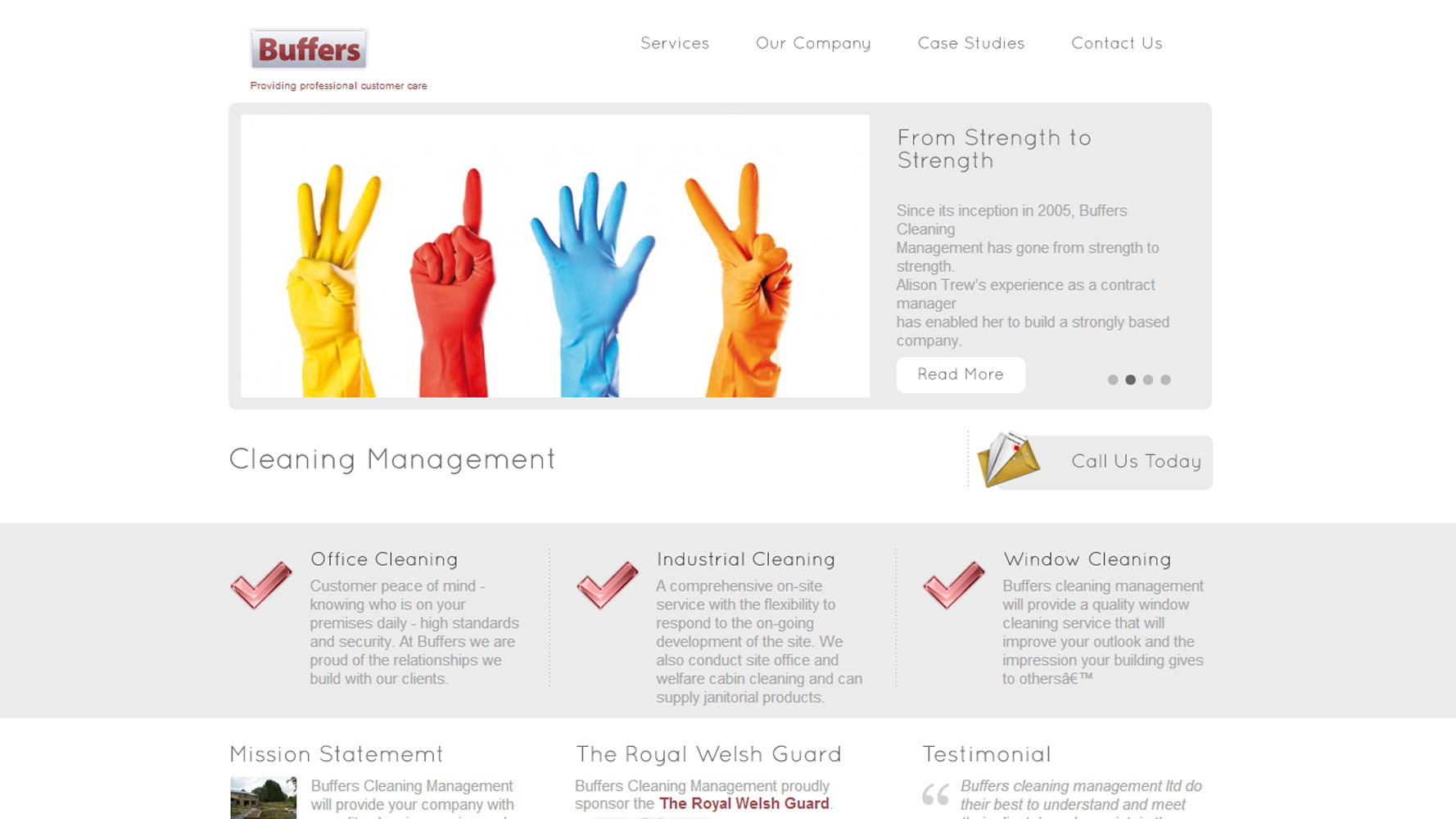 Buffers Cleaning Management web design by Web Adept