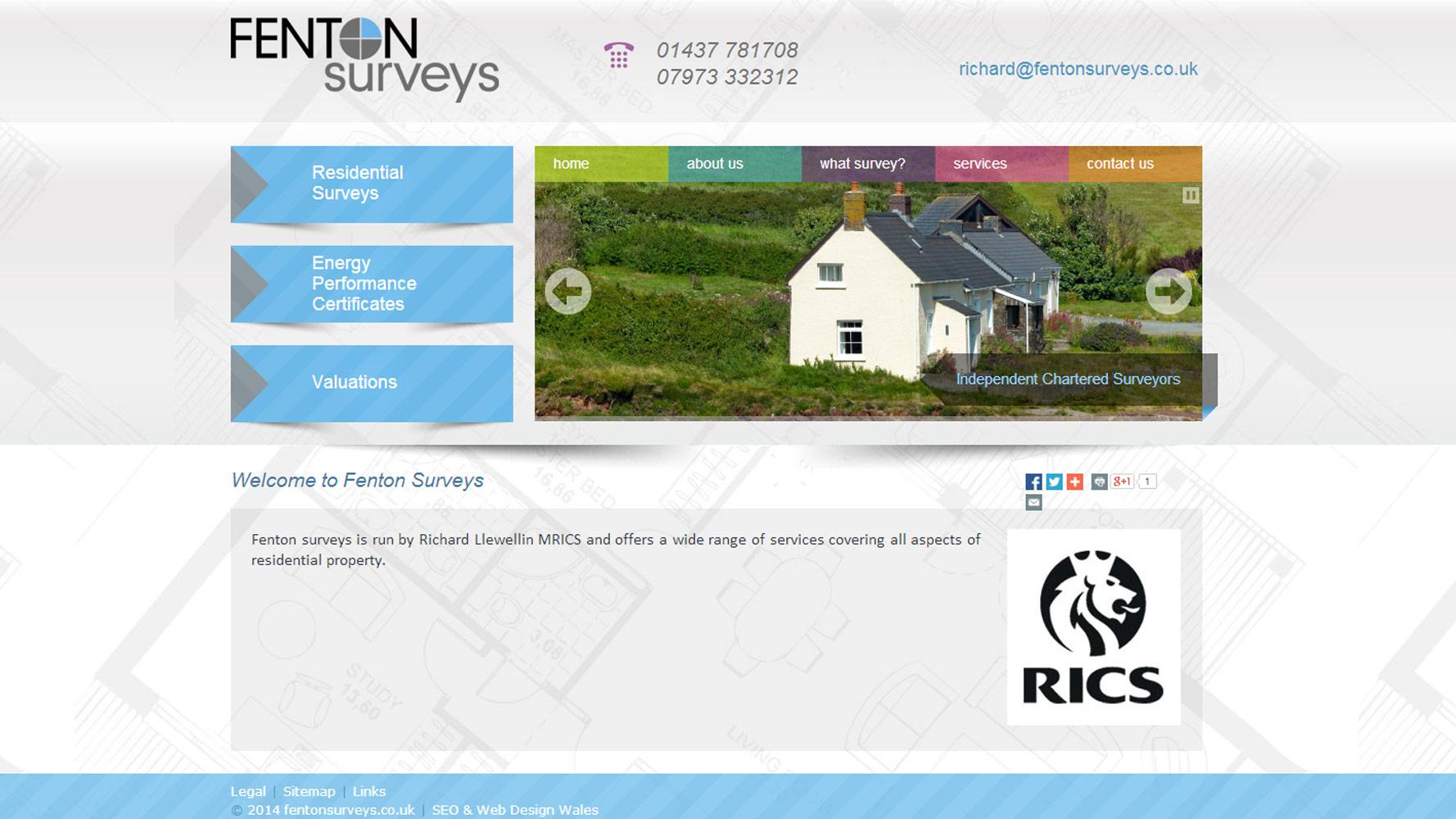 fenton surveys web design web adept