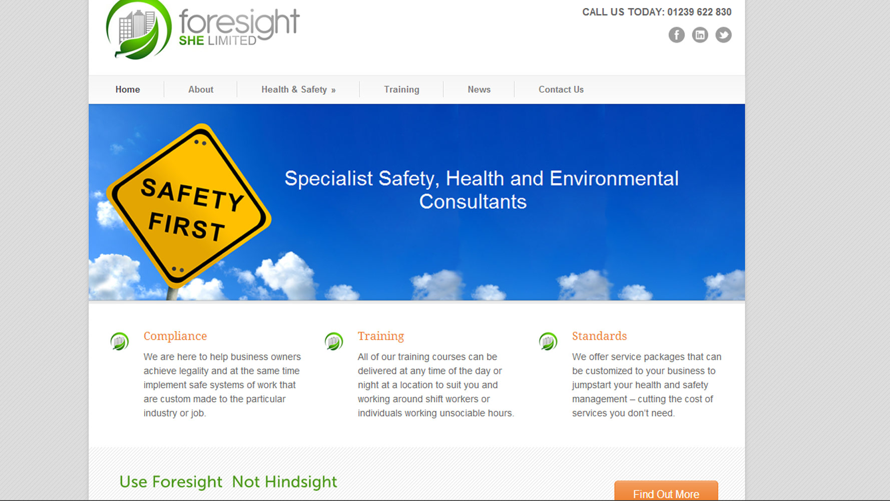 Foresight SHE Web Design by Web Adept