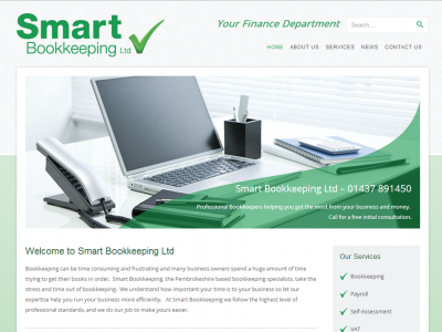 Smart Bookkeeping Homepage Web Design by Web Adept