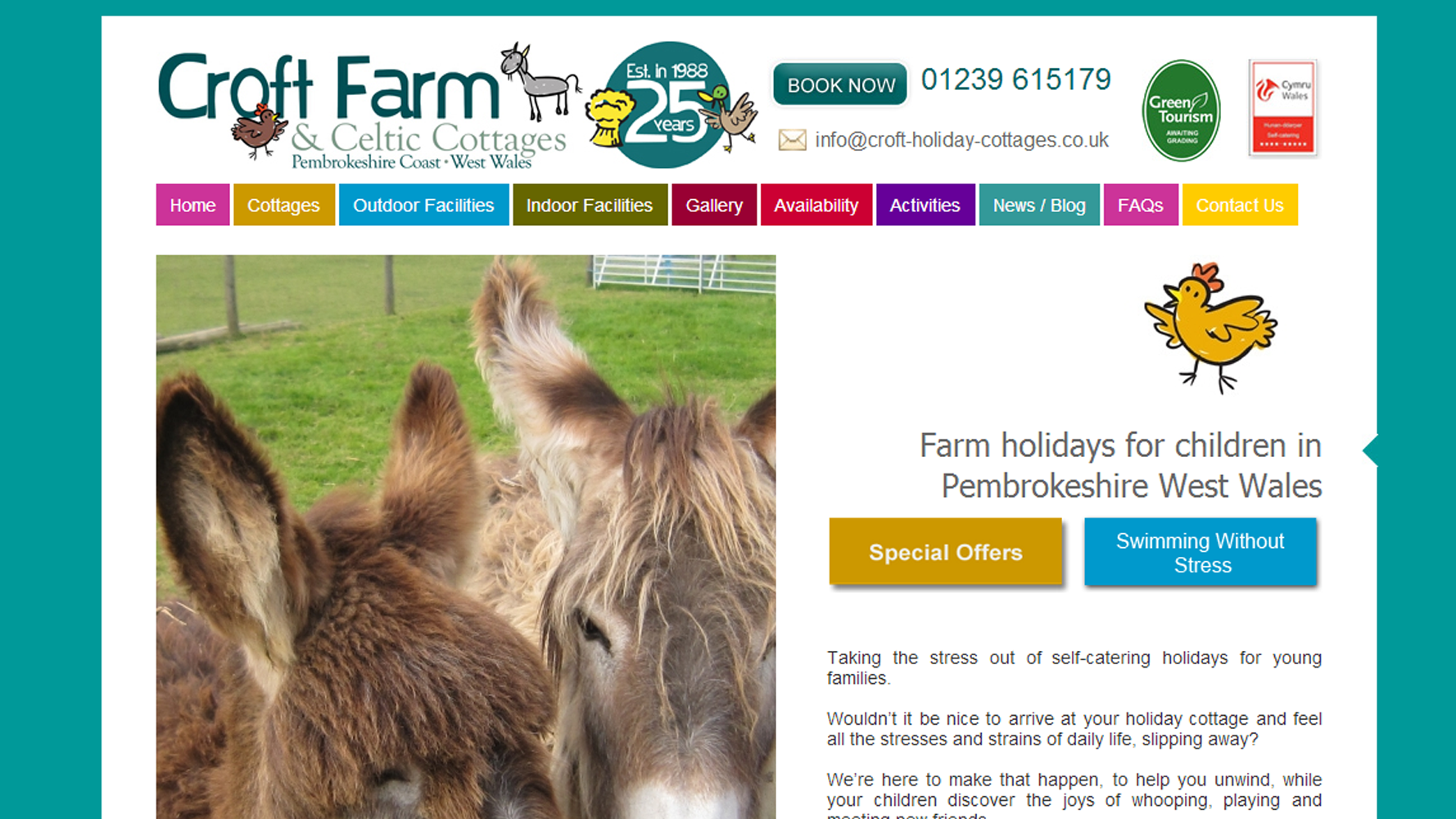 croft farm holiday cottages web development from Web Adept