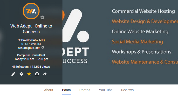 Web Adept Web Designers and Online Marketers Google+ Header