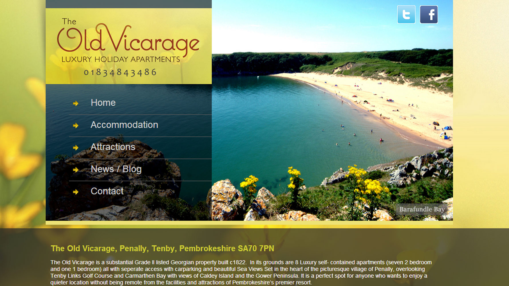 The Old Vicarage Web Design by Web Adept