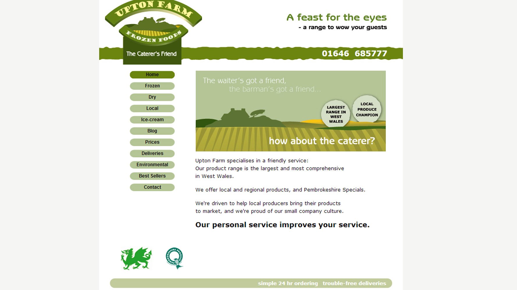 Upton Farm Homepage designed and developed by Web Adept