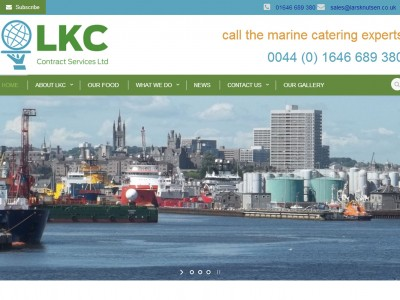 LKC Global Contracts, Marine Catering Website, web design by Web Adept