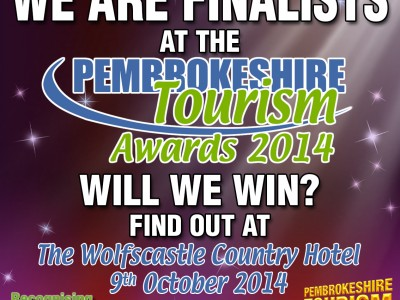 Web Adept are the Pembrokeshire Tourism Award Finalists, nominated in the Customer Service Category!