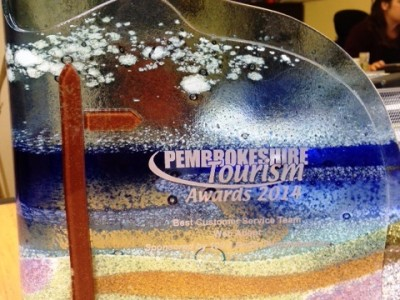 Web Adept win Customer Service award at the Pembrokeshire Tourism Business Awards