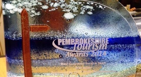 Web Adept win Customer Service award at the Pembrokeshire Tourism Business Awards