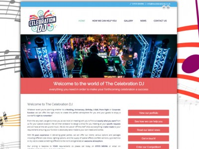 Celebration-DJ Pembrokeshire based DJ, website designed and built by Web Adept
