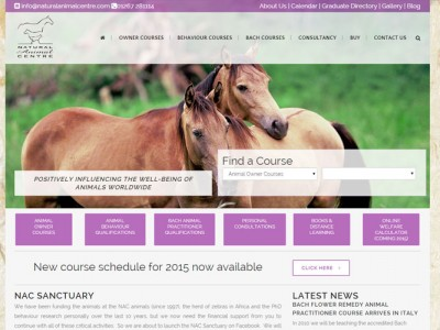 Natural Animal Cente Homepage screenshot, website design and development by web adept, pembrokeshire