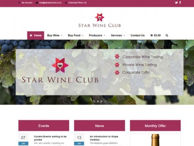 Star Wine Club e-commerce web design by Web Adept