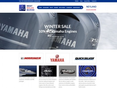 West Wales Yamaha Web Design and Development by Web Adept Pembrokeshire
