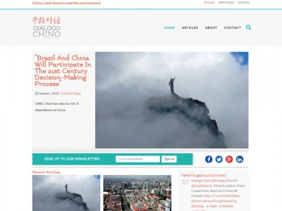 Dialogo Chino new website, design and development Web Adept, Pembrokeshire