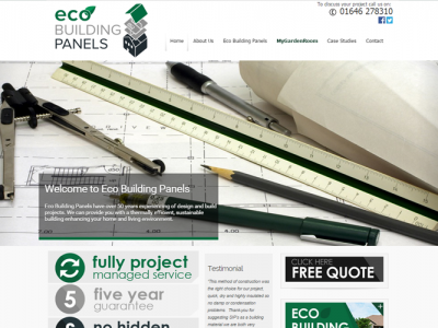 Eco Building Panels New website cerated by SEO and Web Design at Web Adept