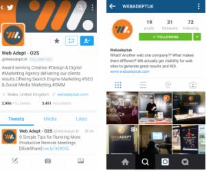 Web Adept Social Media Profiles