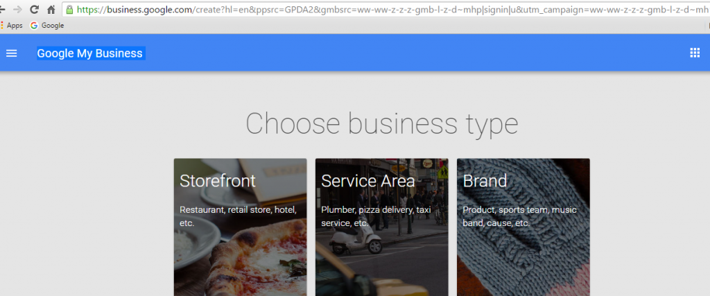 Business Type Google Set Up