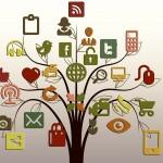 social media icons tree