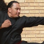martial arts ninja kicking out at a cheap website