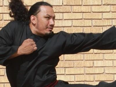 martial arts ninja kicking out at a cheap website
