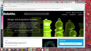 The Deloitte accountancy business website shows easy navigation and a visible click box