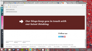 The PwC website actively encourages visitors to go to their blog page