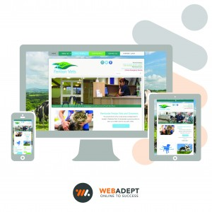 A mobile responsive website we designed for Fenton Vets looks good which ever device you use to access it.