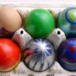 painted Easter eggs in an egg box schedule your social media gives you more time to enjoy family time this Bank holiday